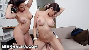 Redheaded Busty MILF Angelica Conners Loves A Warm Cumshot On The Stairs