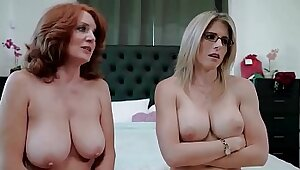 Redhead Granny Fucks Her Moms Friend Deep Throated