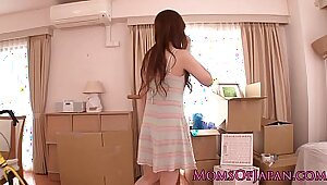 Hot cute Japanese MILF passionately fucked by her boss