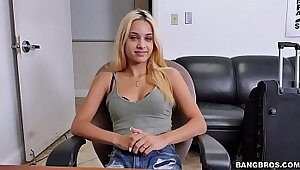 Bad girl gets fucked on a casting route
