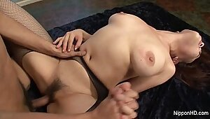 Asian Mom with Big Tits Has a Epic Bubble Orgy