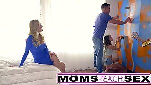 Teenies Punished by Hot Naughty Step Mom