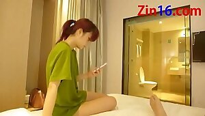 Blonde Chinese Amateur Tied Up and Helped