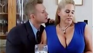 Busty Lisa Brooke seduces her son