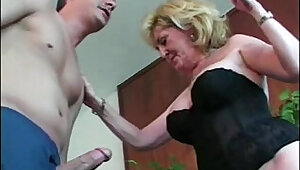 Granny whore loves young