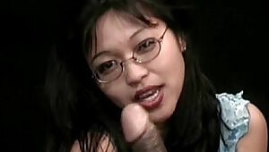 Japanese Girl in sexy nerd,perfect asian