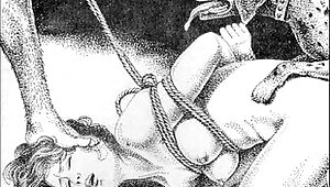 Slaves to rope japanese art bizarre bondage bdsm painful cruel punishment asian fetish