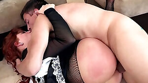 redhead maid fuck punishment